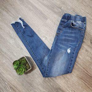 Grace & Lace Distressed Jeggings Jeans Sz S